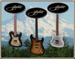 Gigliotti electric guitars w/ Mt Rainier