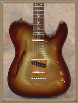 Gigliotti GT Electric Guitar w/ Tobaccoburst finish