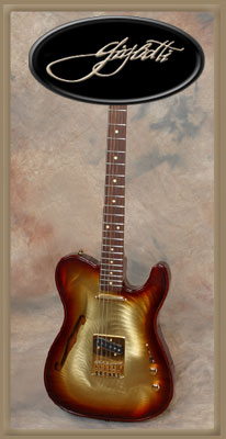 Gigliotti Electric Guitar w/ Tobaccoburst finish